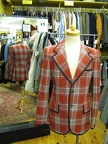 Jacket plaid rust
