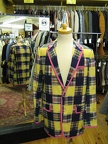 Jacket plaid yellow
