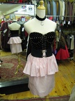 80's black studded combo bustier