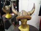 Viking Helmet gold with fur