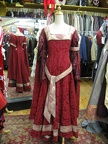 Dress Medieval red & gold