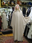 Medieval hooded robe cream
