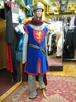 Medieval Knight with blue tabard