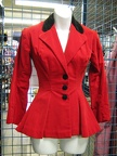 riding jacket ladies bright red