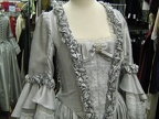 Baroque Gown silver closeup