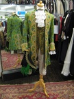 Baroque suit green & gold with hat
