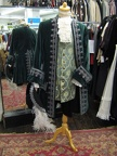 Baroque suit green velvet & silver with hat