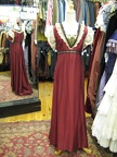 Dress Empire red with lace