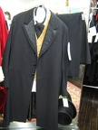 Frocksuit black with gold vest