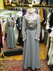 Late Victorian  grey blouse & skirt