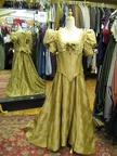 Late Victorian dress gold