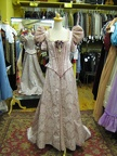 Late Victorian dress pale pink