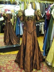 Late Victorian dress rust