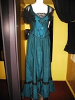 Late Victorian dress turquoise & black