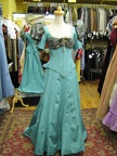 Late Victorian dress turquoise