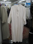 Nightgown white with pleated front