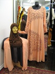 Moroccan gown peach
