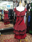 Spanish dress red with white dots