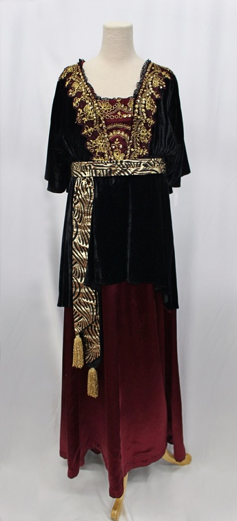 Turn of the Century Dress with Gold Detailing.jpg