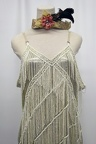 1920's Beaded Gown White 2