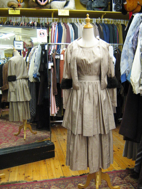 1930's dress taupe with jacket.jpg