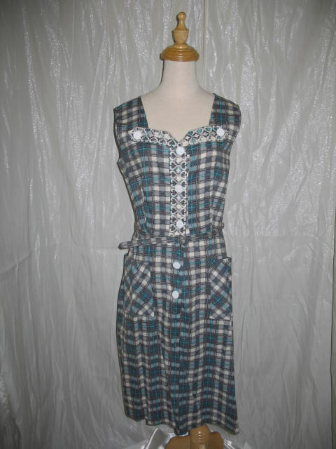 1940's Dress Blue Plaid.JPG