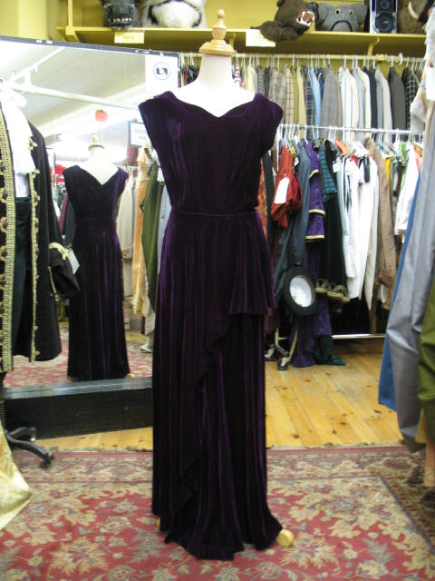 1940's gown Purple Velvet.JPG