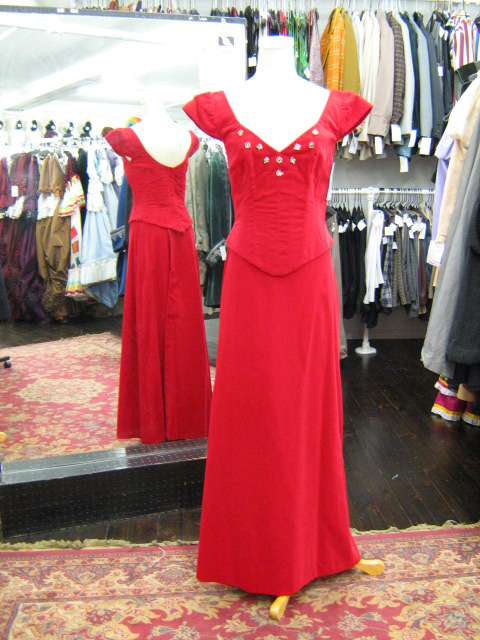 1940's gown red velvet 2-piece.jpg