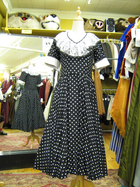 1950's dress b&w Polkadot with lace.jpg