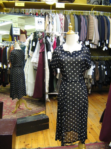 1950's dress Polkadot sheer navy.jpg