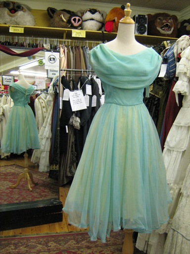 1950's Dress Prom aqua chiffon.jpg