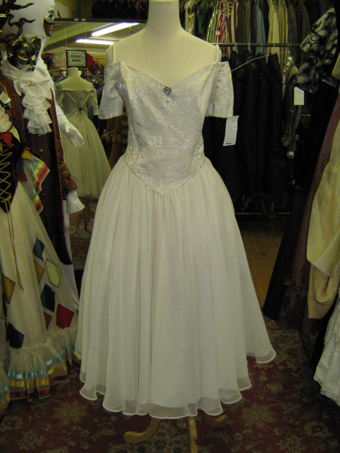 1950's dress Prom cream chiffon.jpg