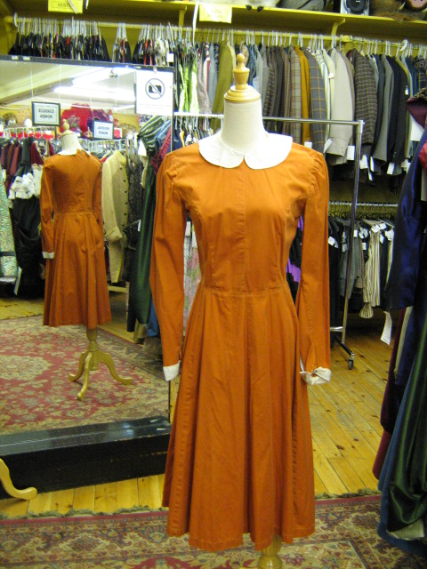 1950's dress Schooolgirl orange.jpg
