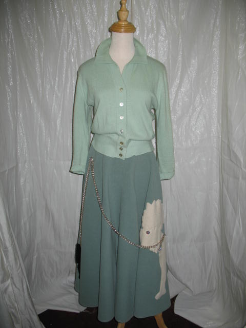 1950's Poodle skirt green.JPG