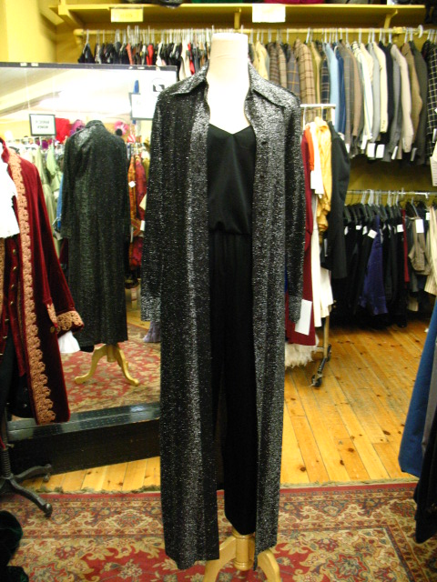70's jumpsuit black with silver coat.JPG
