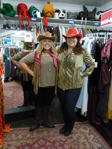 Cowgirl hats & vests.JPG