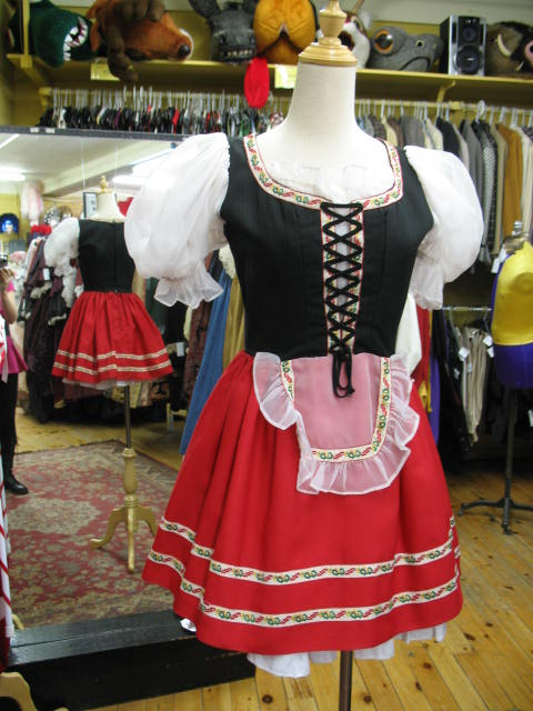 Dirndl red short skirt.JPG
