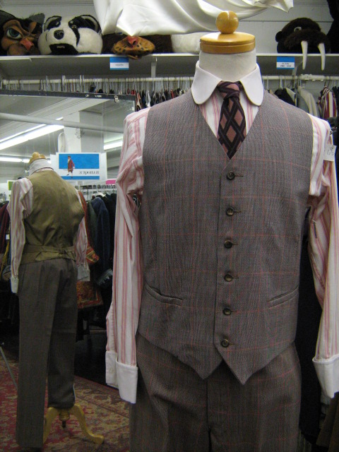 4 button suit brown plaid vest.jpg