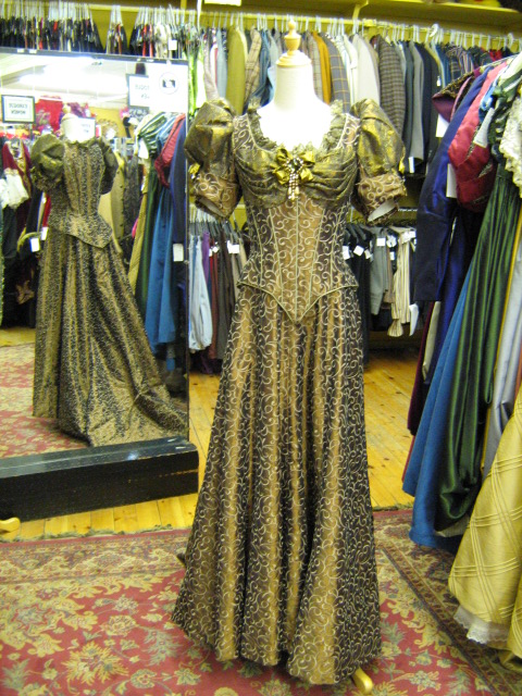 Late Victorian dress bronze & gold.jpg
