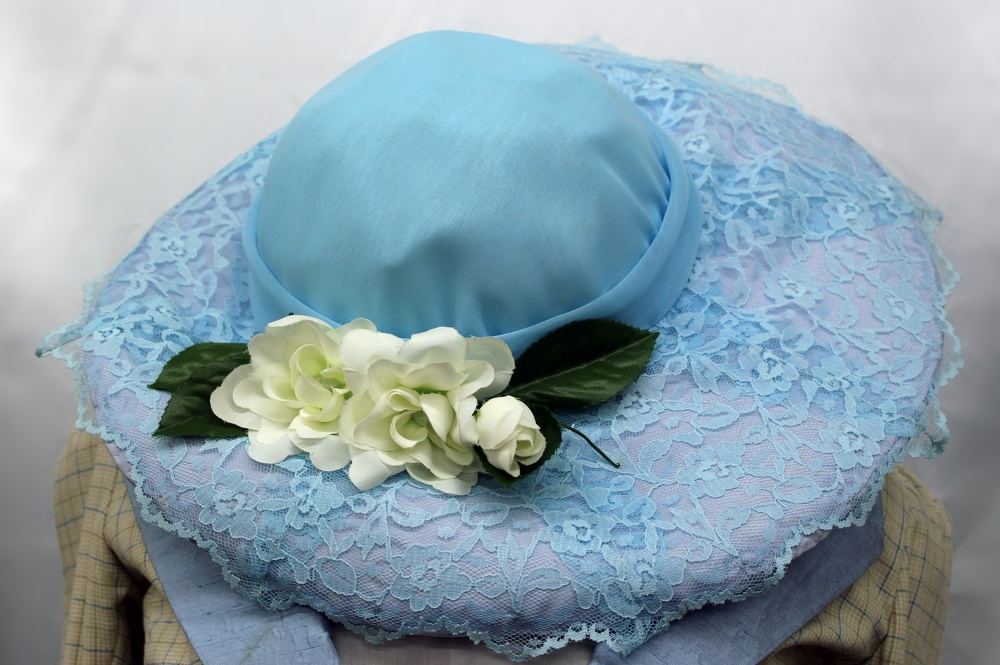 Edwardian Blue Lace Hat.JPG